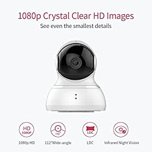 YI Dome Camera 1080p HD Pan/Tilt/Zoom Wireless IP Security Surveillance System Night Vision by YI Technology