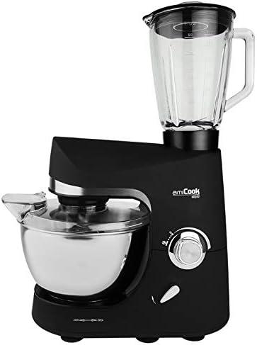 Robot de cocina con AMICOOK KR200 1200W Batidora de vaso, color negro: Amazon.es: Hogar