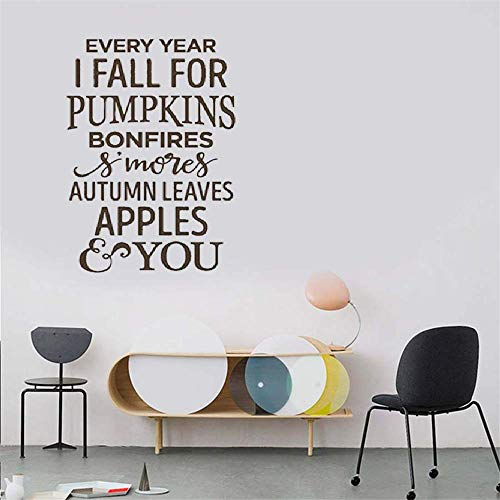 Quote Wall Decal Sticker Nursery Vinyl Saying Lettering Wall Art Inspirational Wall Decor Every Year I Fall for Pumpkins]()