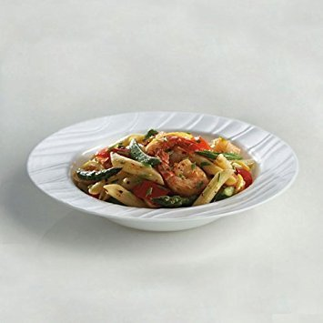Wide Rimmed Bowls - CORELLE Boutique Swept 28-oz Wide-Rimmed Soup / Cereal Bowl