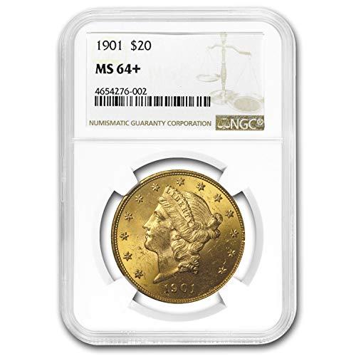 1901 $20 Liberty Gold Double Eagle MS-64+ NGC G$20 MS-64 NGC