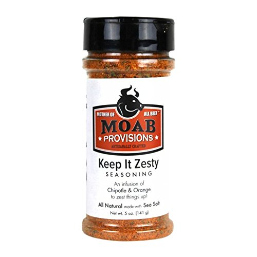Gluten Free Chicken & Fish Seasoning (Chipotle & Orange Zest), MOAB Provisions, 5oz bottles, Pack of 2 by MOAB Provisions