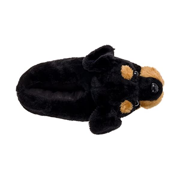 Silver Lilly Rottweiler Slippers - Plush Dog Slippers w/Platform 5