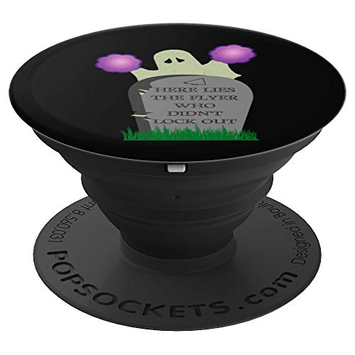 Stunt base cheerleader Halloween purple pom black phone grip - PopSockets Grip and Stand for Phones and Tablets]()