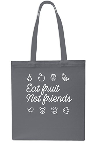 litrest 10 Eat Bag Friends Shopping Fruit Tote 42cm x38cm Grey Not Beach Gym Black Small PfwrPvq