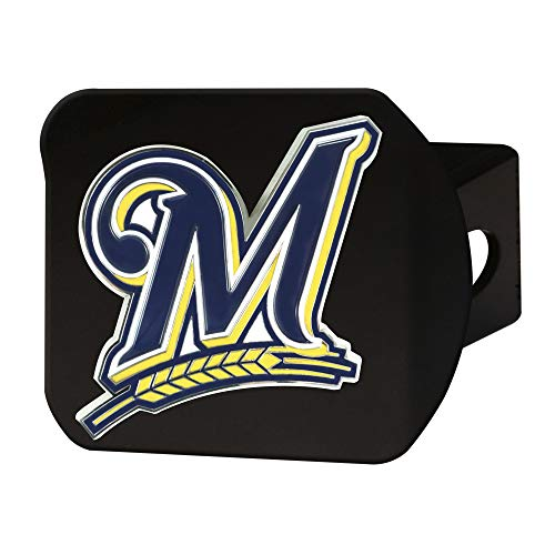 Milwaukee Brewers Rug - FANMATS MLB - Milwaukee Brewers Color Hitch - Black