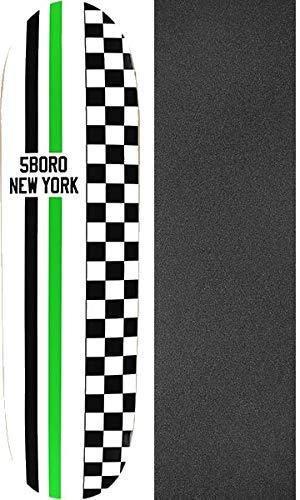 超爆安  5Boro NYC スケートボード スピードウェイ ホワイト 2点セット/ブラック スピードウェイ -/グリーン クルーザー スケートボードデッキ - 8.25インチ x 32インチ ブラックマジックブラックグリップテープ付き - 2点セット B07Q62HTX5, 近江うまいもん屋:86d8c413 --- kickit.co.ke