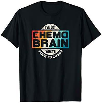 Cancer T Shirt Chemo Brain Retro Awareness Gift
