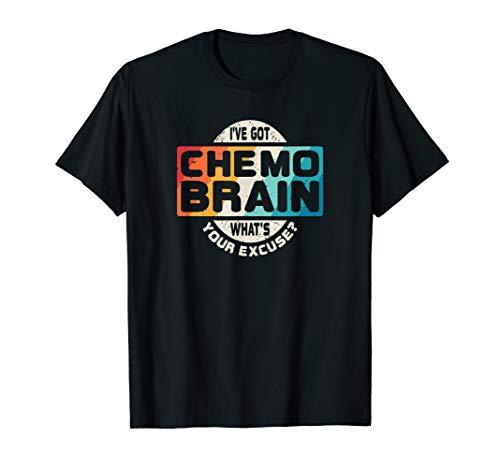 Cancer T Shirt Chemo Brain Retro Awareness - Brain T-shirt Womens