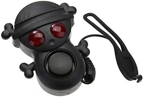 サイクルベル 自転車のベル自転車エレクトリックホーンの高デシベル120デシベルベル防水ライトAAAバッテリーマルチトーンを警告して 小さく洗練されたベル (色 : Black, Size : One size)