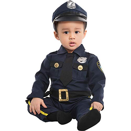 AMSCAN Baby Cop Costume for Infants, 12-24 Months, with Included Accessories