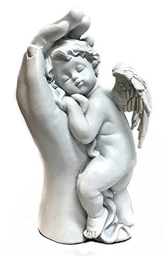 Quietly Mother Hand - Baby Angel, Baby Angel Statues and Figurines Loves Child Cupid Angel Cherub Statue Home (Cherub Statue)