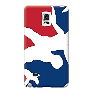 Scratch Resistant Hard Phone Case For Samsung Galaxy Note 4 With Customized Realistic Usa Wrestling Logo Image ErleneRobinson