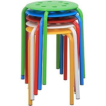 Amazon Com Topeakmart Set Of 5 Round Plastic Stacking
