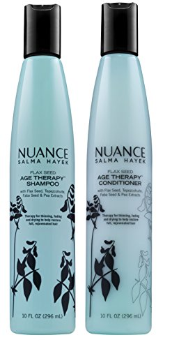 Nuance Salma Hayek Flax Seed Age Therapy Shampoo and Condtioner [Bundle of - Age Therapy