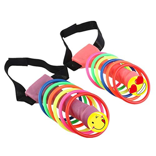 Bachelorette Party Games Supplies Headband Ring Toss Hoopla Game Set,Girls Nights Out,Hen Party Novelty Favors 2PCS