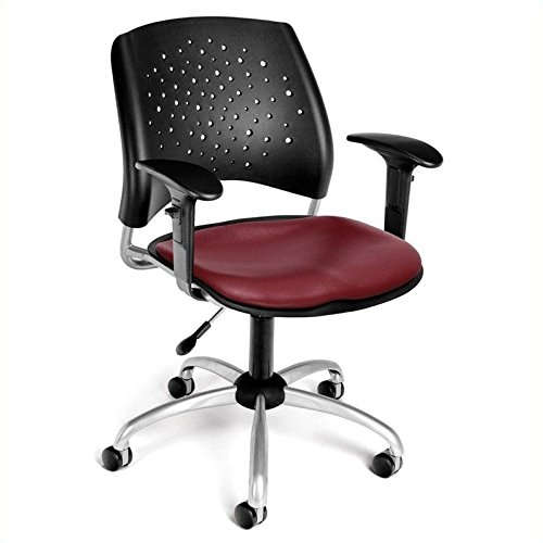 OFM 326-VAM-AA3-603 Stars Swivel Chair with Arms and Vinyl S