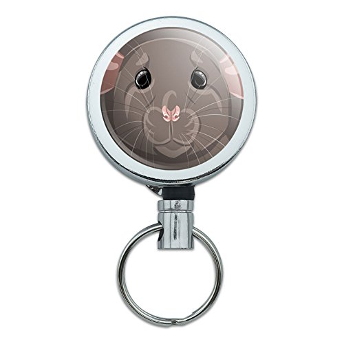 all-metal-retractable-reel-id-badge-key-card-holder-with-belt-clip-animals-rat-pet-mouse-rodent