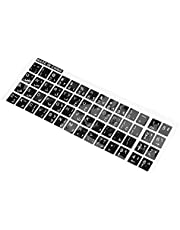 CKMSYUDG Vita bokstäver arabiskt engelskt tangentbord klistermärke dekal svart för bärbar dator PC