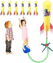 Duckura Jump Rocket Launchers for Kids, Outdoor Air Rocket Toys with Launcher and 6 Foam Rockets,Christmas Bir