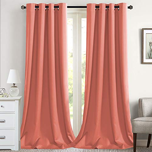 Flamingo P Blackout Thermal Insulated Room Darkening Winow Treatment Extra Long Curtains/Drapes