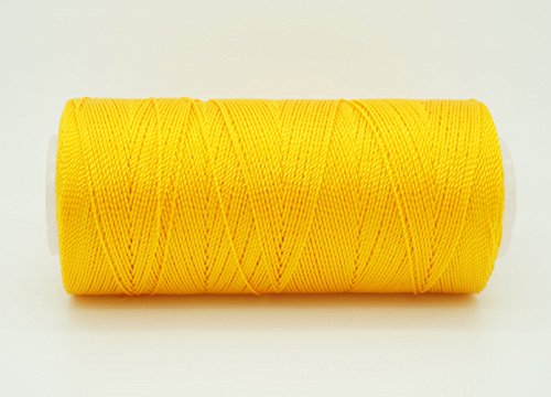 GOLDEN YELLOW 0.6mm 100% Nylon Twisted Cord Thread Micro Macrame Beading Knitting Crochet Needle Crafts (300yards Tube)