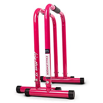 Image of SWEATFLIX Dip Bar Station for Home Workout: BodyRock Challenger Exercise Bars for Dips & Calisthenics - Parallette Equipment to Build Core Strength, Balance & Tricep, Arm & Shoulder Muscles - 2 Bars