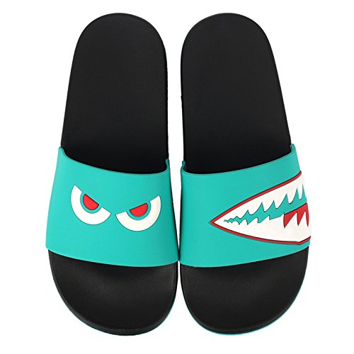 cool lovely indoor Geek slip stay bathroom soft slippers Red Green and 42 couples fankou female with shark summer anti bottom personality ZP6qdBawx