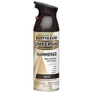 Rust-Oleum 245217 Universal All Surface Spray Paint, 12 oz, Hammered Black