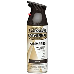 Rust-Oleum 245217 Universal All Surface Spray Paint, 12 oz, Hammered Black