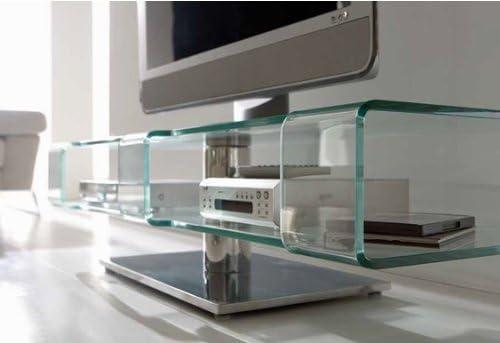 Mueble TV cristal Face: Amazon.es: Hogar