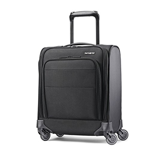 Samsonite Flexis Underseat Carry On Luggage with Spinner Wheels, Jet - Spinner Luggage Underseat