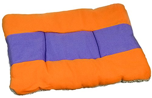 Zeroyoyo Pet Bedding Warm Soft Cat Puppy Bed Mat Striped Pad Cushion for Dog Kennel (Orange, Purple)