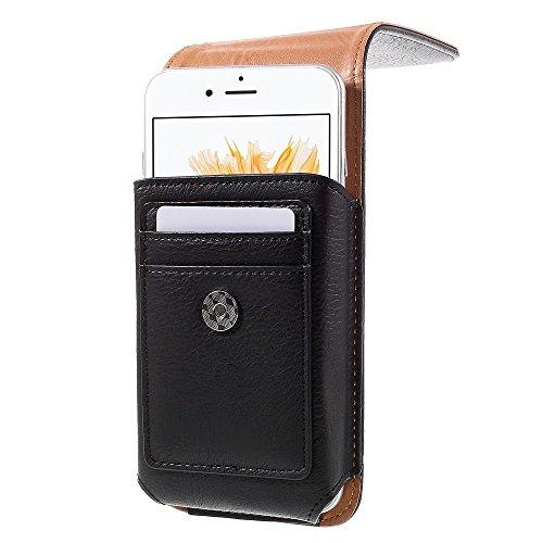 Belt Clip Leather Pouch Tasche Hüllen Schutzhülle Case für iPhone 6s Plus / 6 Plus, Size: 16 x 8.4 x 1.8cm - schwarz