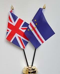 Islas de Cabo Verde y Reino Unido amistad banderín Celloexpress 25 cm