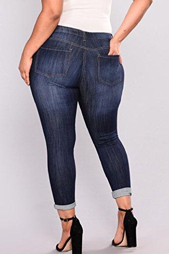 Jeans Taille Trous Et Femmes Propres Les Jeans Slim Blue Mince Zonsaoja Dchir a4AtqWF46