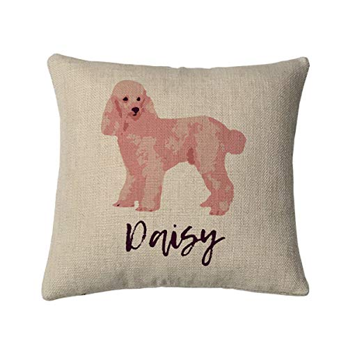 White Poodle Throw Pillow A Home Without is Just a House Dog New Green Beige
