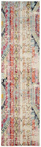 """Safavieh Monaco Collection MNC222F Modern Bohemian Distressed Runner, 2' 2"""" x 8', Multicolor - Safavieh's Monaco Modern Bohemian Rug with 1,000+ customer reviews Free spirited design adds a modern to touch to the living room, dining room, bedroom, foyer, or playroom Refined power loomed construction and enhanced polypropylene fibers ensure an easy care and virtually non shedding rug - runner-rugs, entryway-furniture-decor, entryway-laundry-room - 41zFzzbQXyL -"""