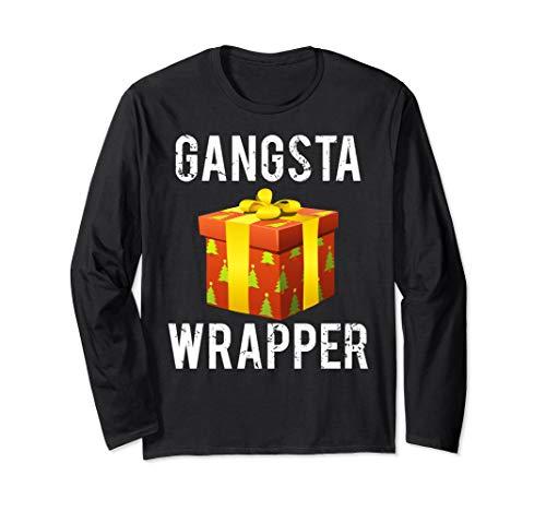(Gangsta Wrapper Sweater Funny Christmas fun sweatshirt shirt )