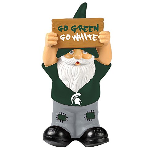 Elite Fan Shop Michigan State Spartans Garden Gnome - Green