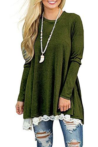 long NICIAS Femme Sleeve 0 armygreen Chemisier wAtOS