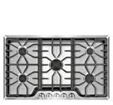 "Appliances : Frigidaire FGGC3645QS 36"" Gas Cooktop, Stainless Steel"