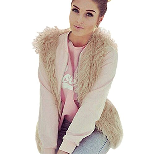 Chaleco para mujer,Longra ❤️ Outwear de la piel del Faux de las mujeres Chaqueta sin mangas Cuerpo de abrigo de invierno Chaleco Caqui