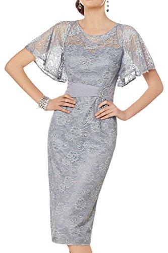 Promgirl House Damen Fashion Aermel Spitze Etui Cocktailkleider Abendkleider Festkleider Kurz/Knielang
