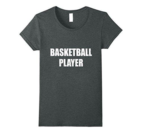 Basketball Player Costume Female (Womens Basketball Player Shirt Halloween Costume Funny Distressed Medium Dark Heather)