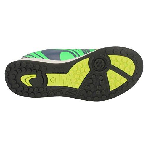 Clarks Zapatos de los muchachos de Sprint en cuero azul Blue Combi