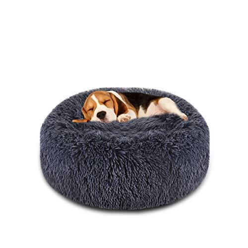 Focuspet Dog Bed Donut, Faux FurCuddler Bed Size 23