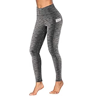 Fengbay High Waist Yoga Pants, Pocket Yoga Pants Tummy Control Workout Running 4 Way Stretch Yoga Leggings