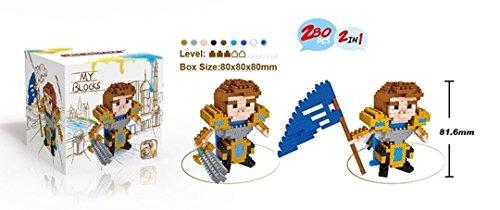 LOL Action Figures Anivia Rumble Pantheon ChoGath Garen KHA'ZIX Teemo Corki Model Minifigures DIY Blocks Gifts Collection (Garen)