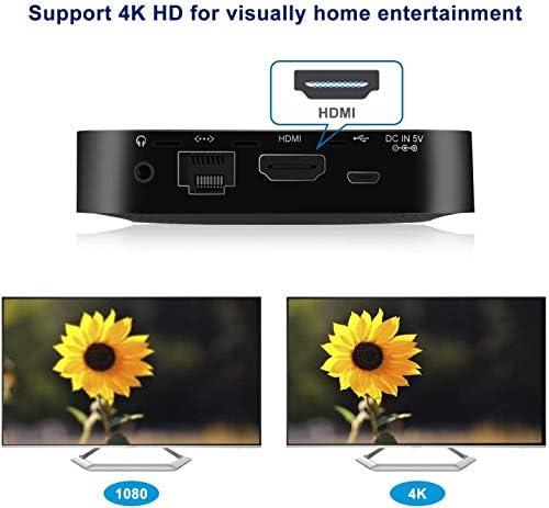 FANLESS MINI PC, INTEL X5-Z8350 HD GRAPHICS MINI COMPUTER, WINDOWS 10 64-BIT,DDR3L 4GB/64GB EMMC/4K/2.4G/5G WIFI/BT 4.2